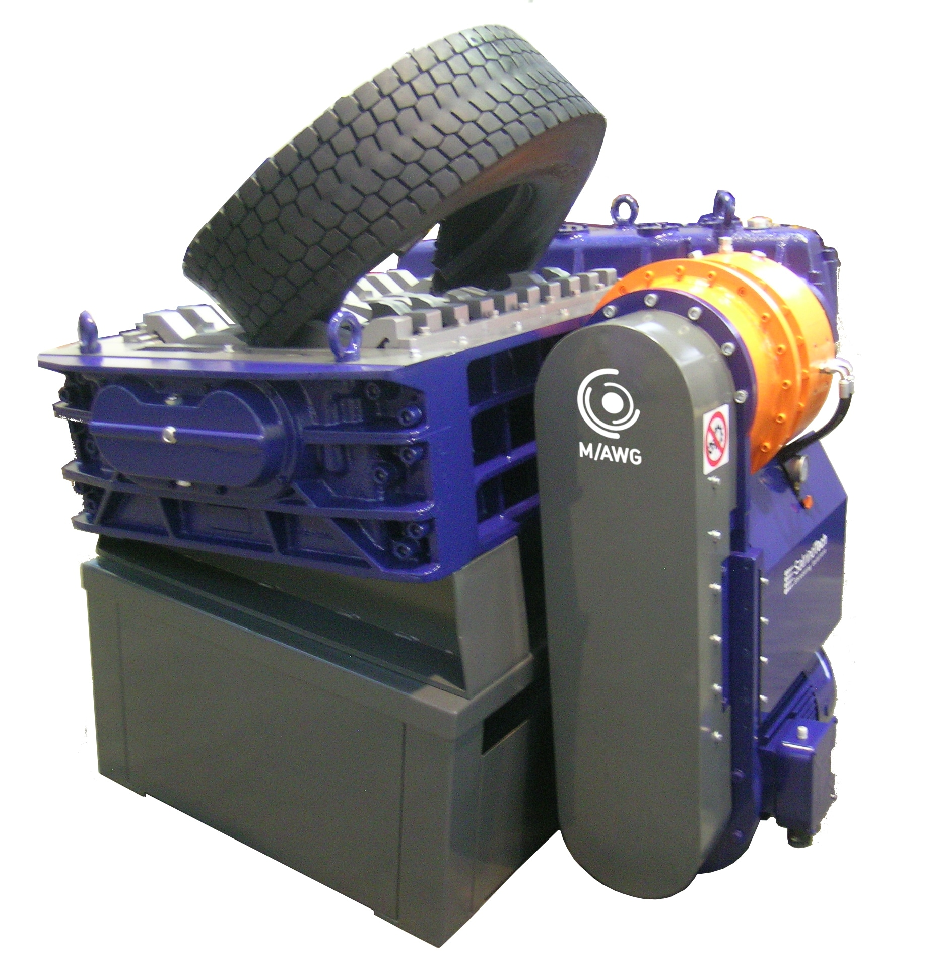 2-shaft-shredder-k50hp-with-special-trasmission - SatrindTech Sr
