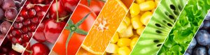 Color fruits, berries and vegetables. Healthy food background
