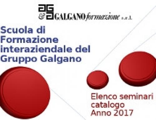 ONLINE IL CATALOGO 2017 DELLA SCUOLA DI FORMAZIONE DEL GRUPPO GALGANO