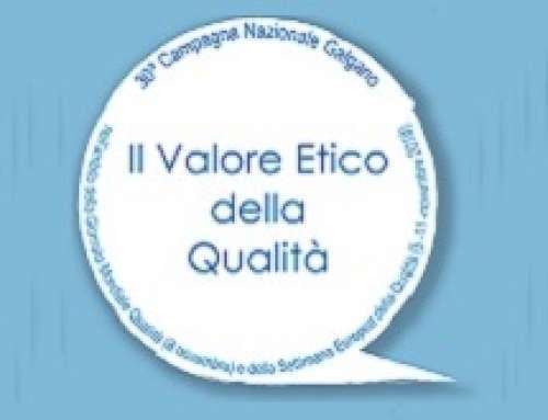 """Workshop nell'ambito della Campagna italiana Galgano """"Il Valore Etico della Qualità"""""""