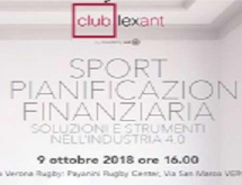 TÜV Rheinland Italia partecipa all'evento: Sport & pianificazione finanziaria: Soluzioni e strumenti nell'industria 4.0