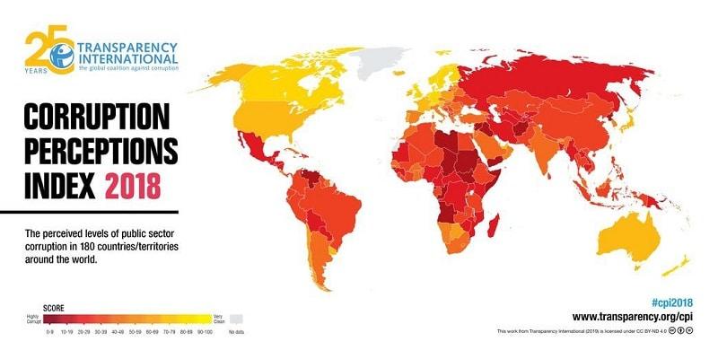 Percezione della Corruzione 2018 su Magazine Qualità