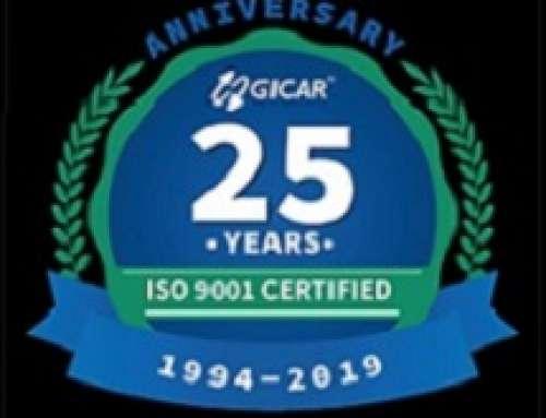 GICAR FESTEGGIA I 25 ANNI DI CERTIFICAZIONE ISO 9001