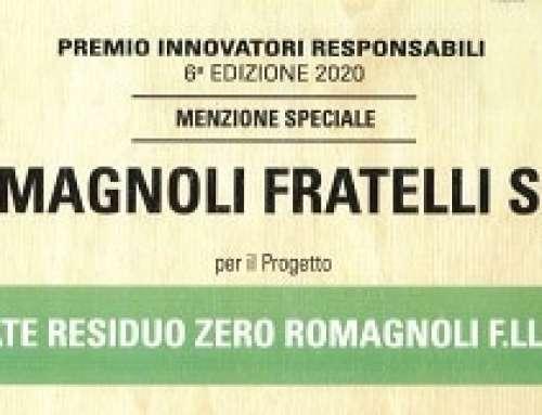 A Romagnoli F.lli la menzione speciale del premio innovatori responsabili