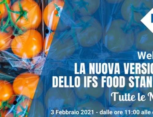 """Kiwa Italia Webinar gratuito """"La nuova versione 7 dello IFS Food Standard: tutte le novità"""""""