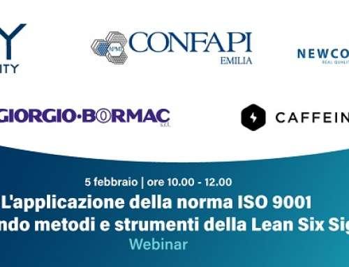 Venerdì 5 Febbraio – L'applicazione della norma ISO 9001 utilizzando metodi e strumenti della Lean Six Sigma