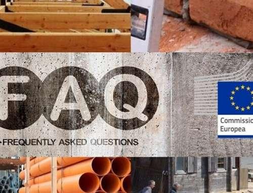 REG. (UE) CPR 305/2011: Le FAQ della Commissione Europea e le disposizioni relative ai prodotti da costruzione