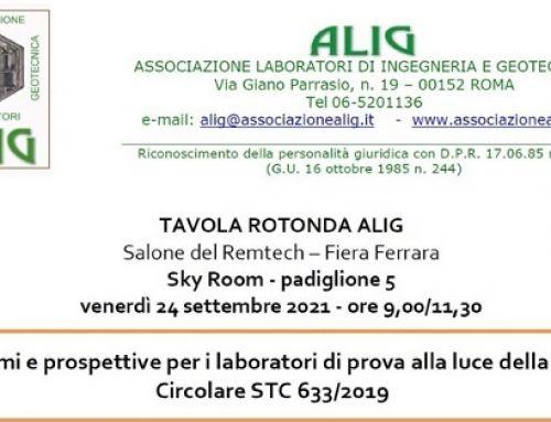 ALPI all'incontro ALIG per i Laboratori di Prove sui materiali e sulle strutture esistenti